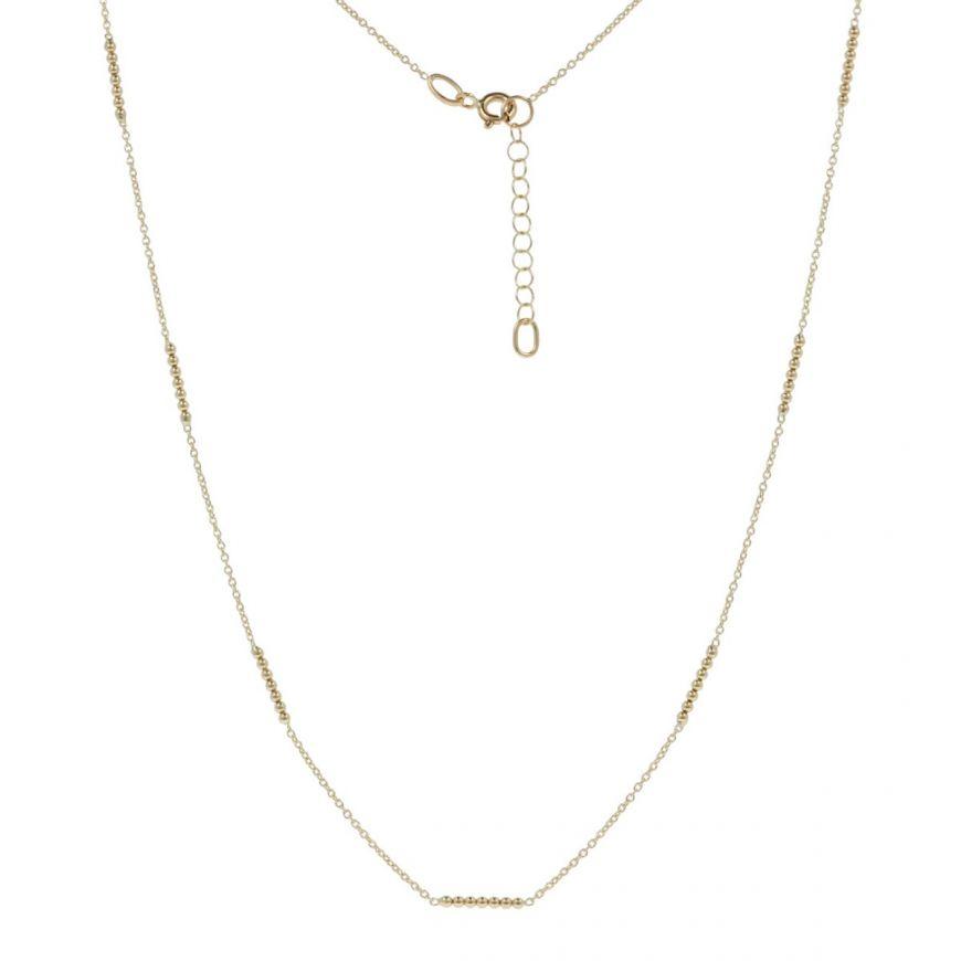 Collana sottile con perline in oro giallo   Gioiello Italiano