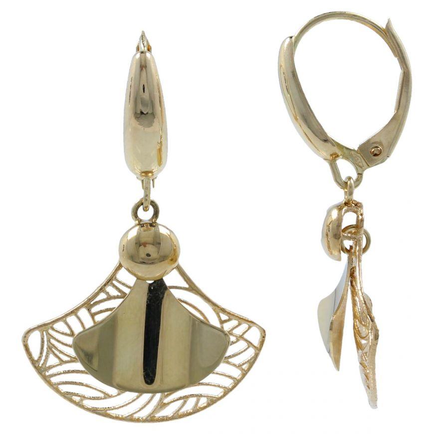 14kt yellow gold earrings | Gioiello Italiano