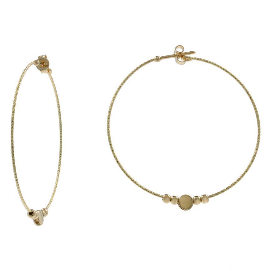 Orecchini a cerchio in oro 14kt con elementi | Gioiello Italiano