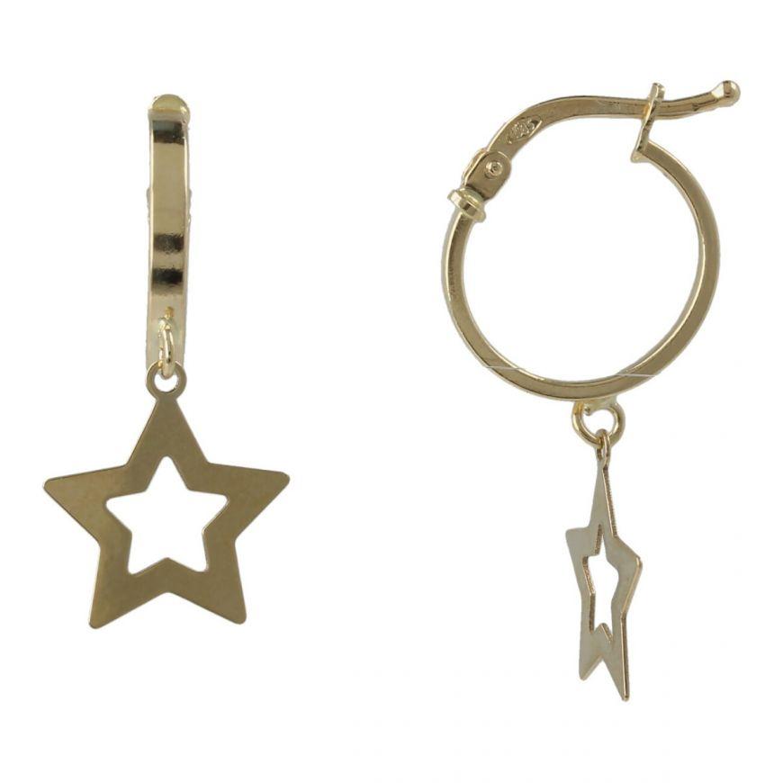 Orecchini in oro giallo con pendente a stella   Gioiello Italiano