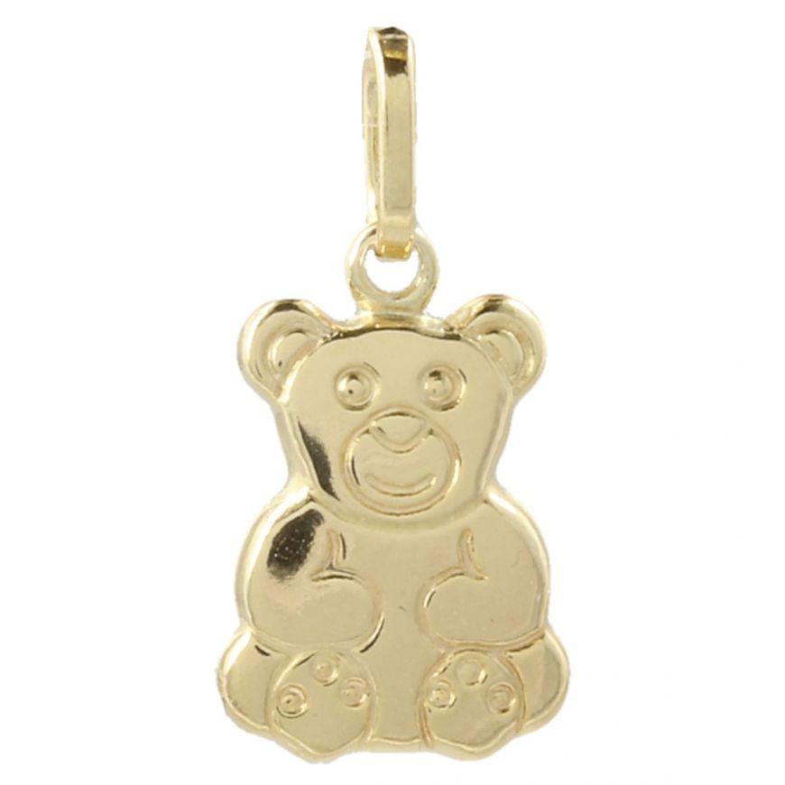 "14kt yellow gold ""Teddy Bear"" pendant | Gioiello Italiano"