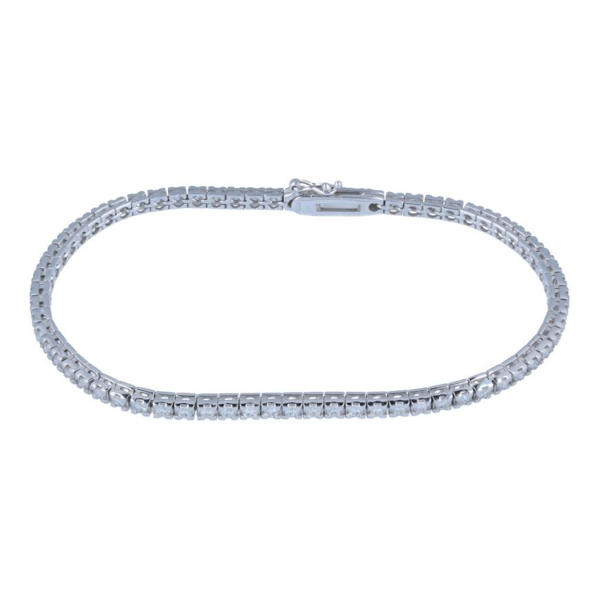 White gold tennis bracelet with 67 diamonds | Gioiello Italiano