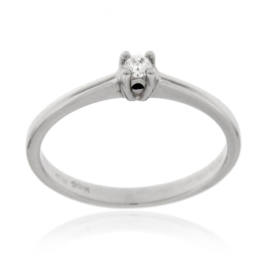 Solitaire ring with 0.05 diamond | Gioiello Italiano