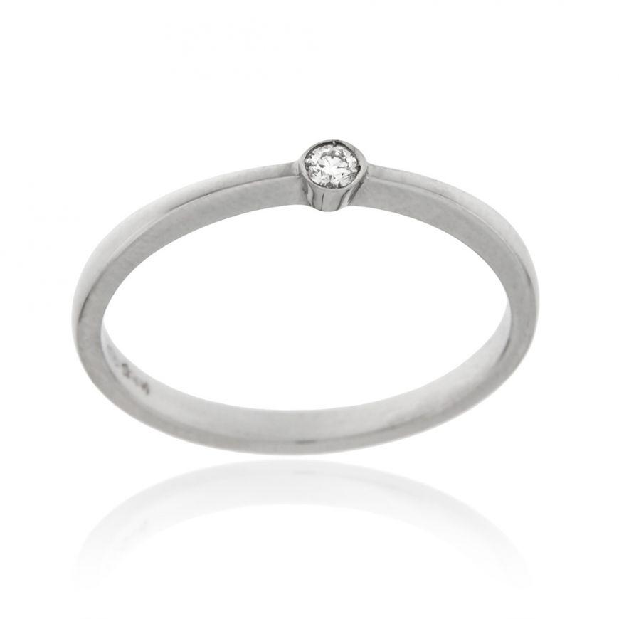 Anello solitario con diamante 0.04ct | Gioiello Italiano