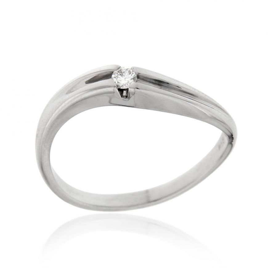 Solitaire ring with 0.04ct diamond | Gioiello Italiano
