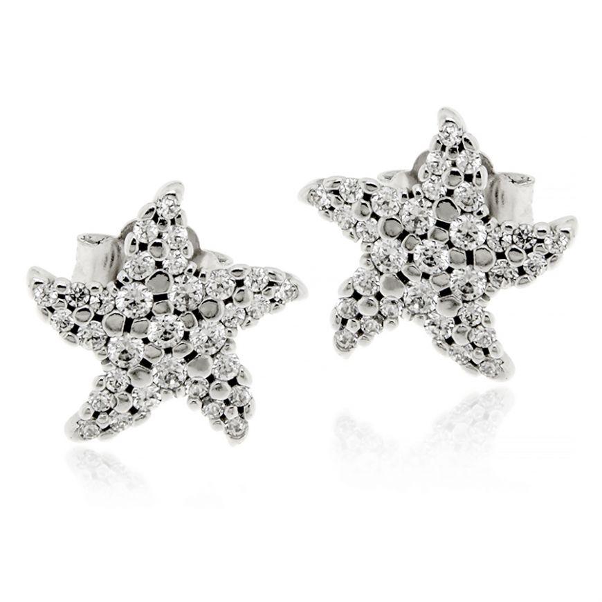 Star-shaped silver earrings | Gioiello Italiano