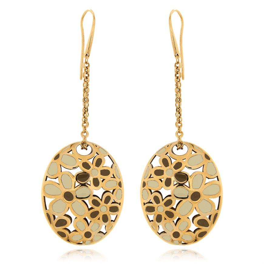 Orecchini in argento placcato oro giallo | Gioiello Italiano