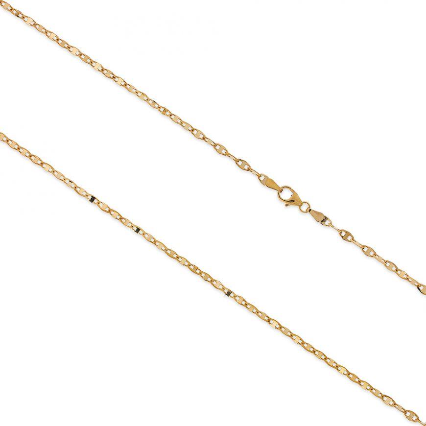 14kt yellow gold anchor chain | Gioiello Italiano