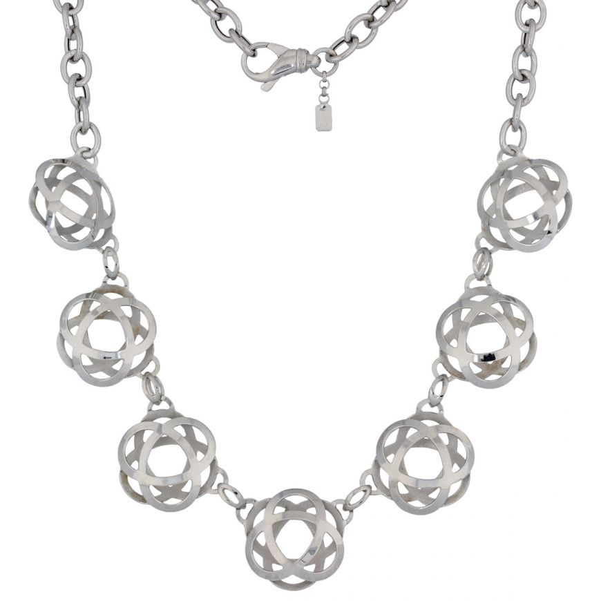 "Small ""Atom"" silver necklace 