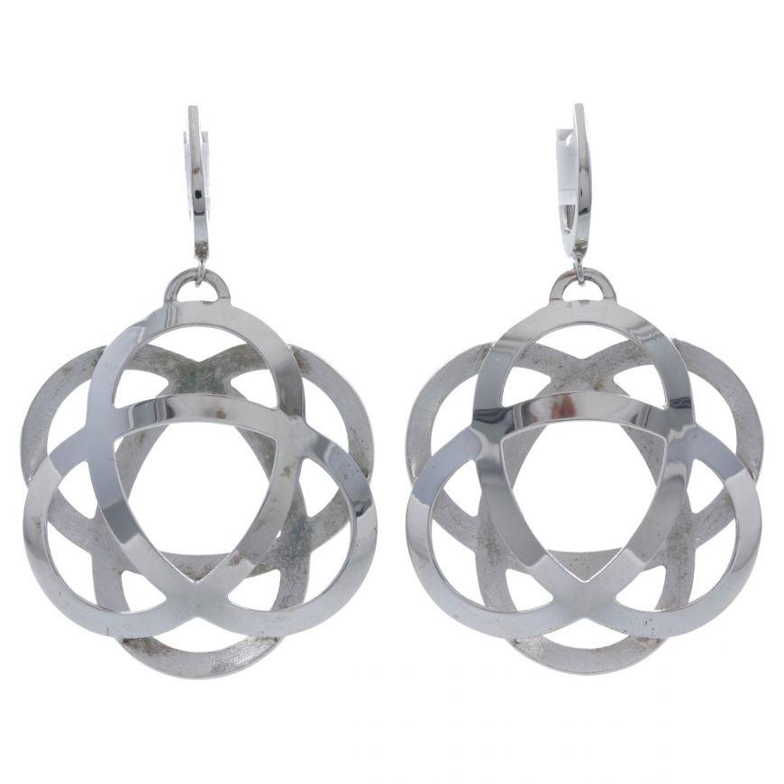 "Large silver ""Atom"" earrings | Gioiello Italiano"