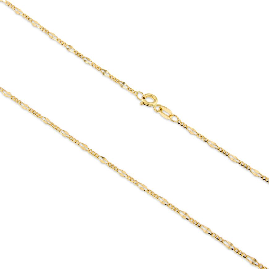 14kt yellow gold figaro chain | Gioiello Italiano