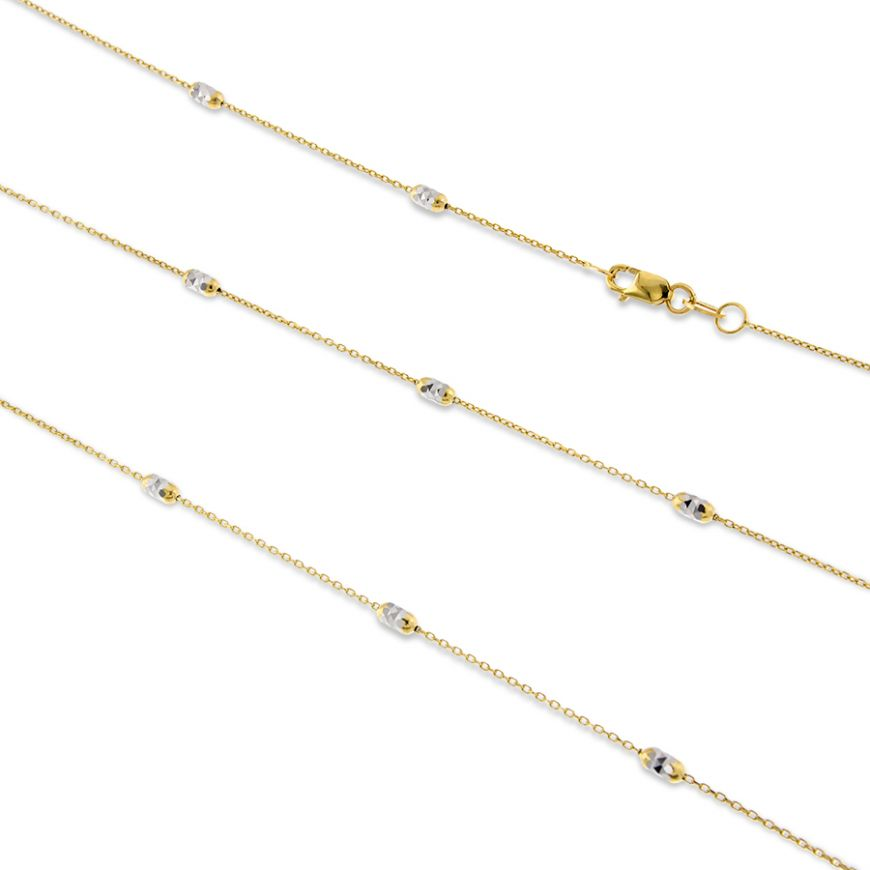 Yellow and white gold chain | Gioiello Italiano