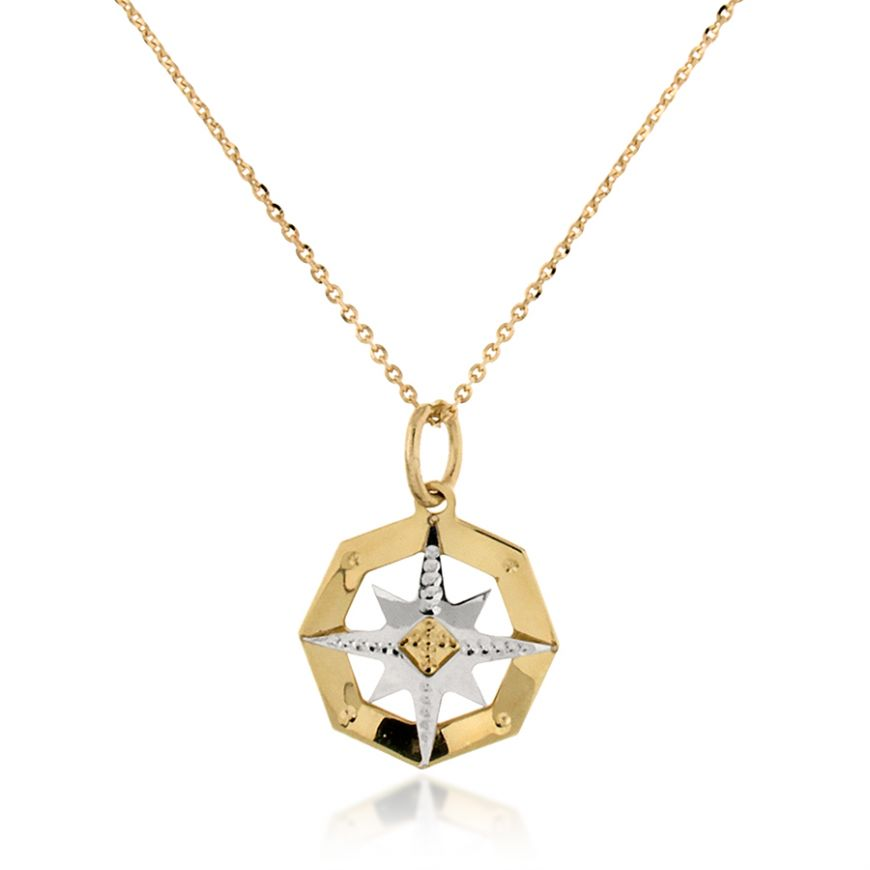 "Octagonal ""Wind Rose"" necklace 