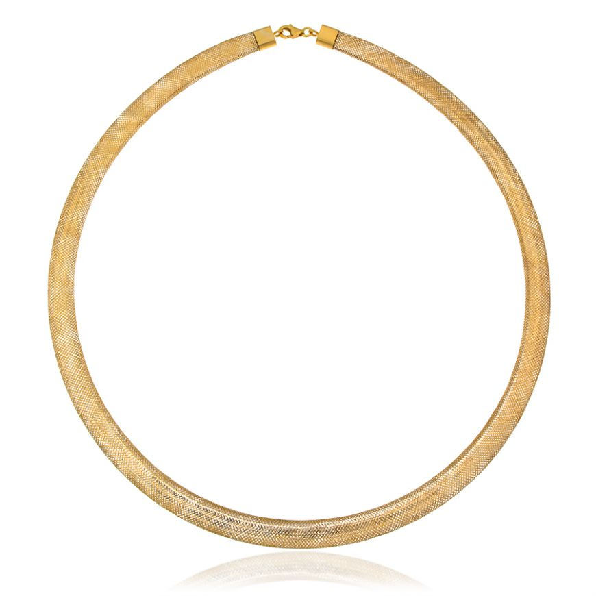 Yellow gold elastic necklace | Gioiello Italiano