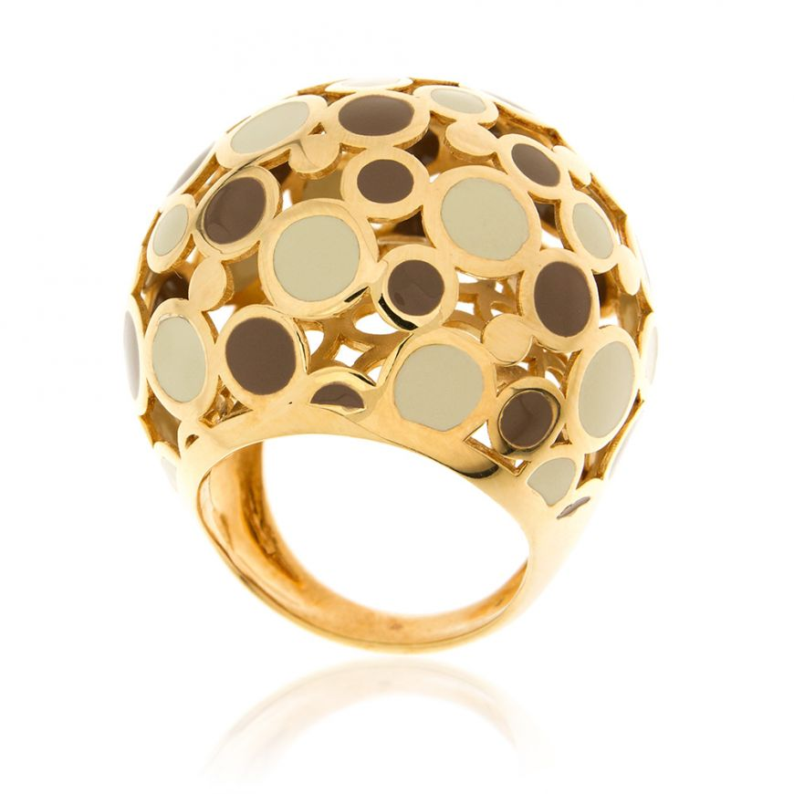 Gold plated silver ring with varnish | Gioiello Italiano