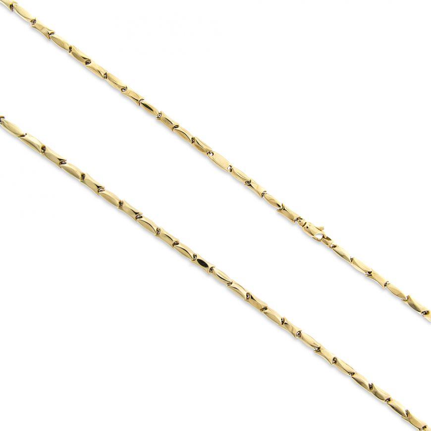 14kt yellow gold bamboo chain | Gioiello Italiano