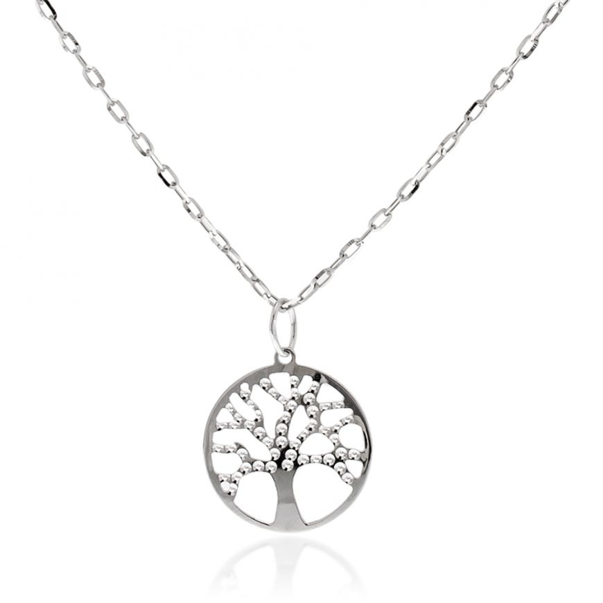 "14kt white gold ""Tree of Life"" necklace 