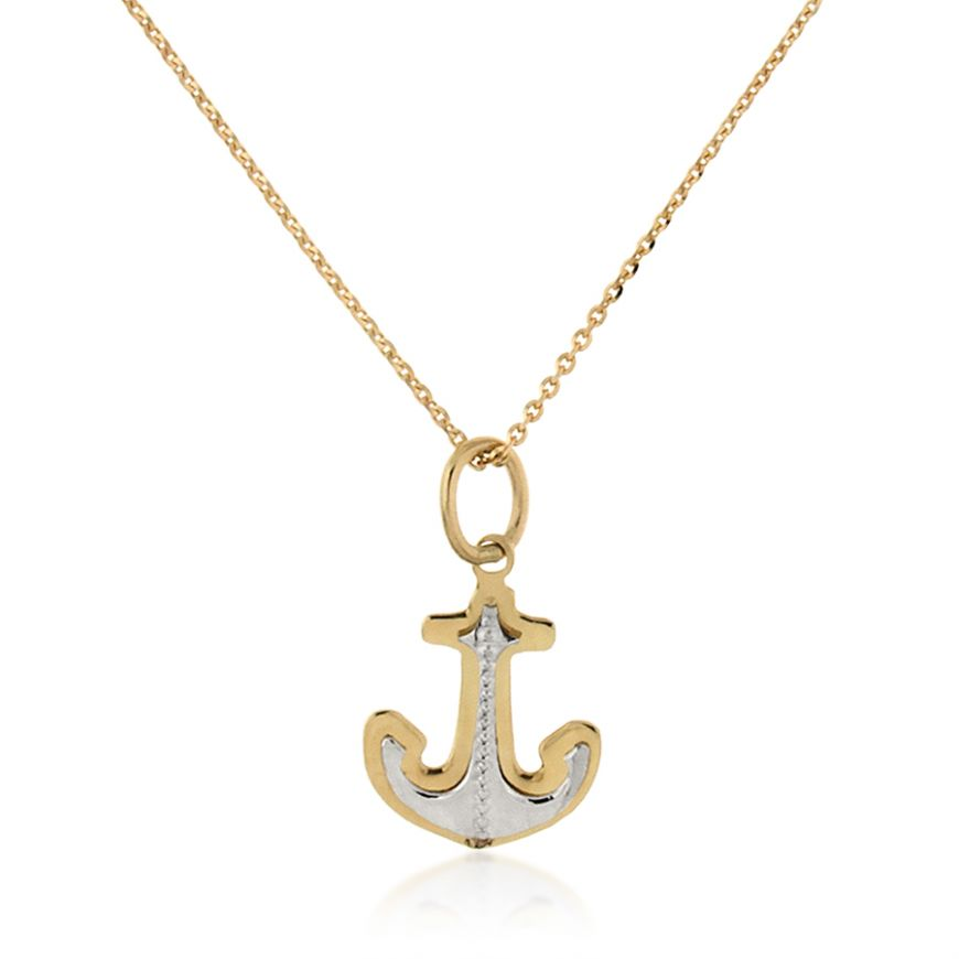 "Yellow and white ""Anchor"" necklace 