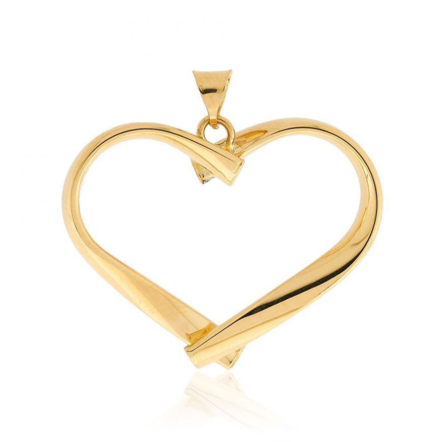 Heart Pendant 14kt yellow gold | Gioiello Italiano