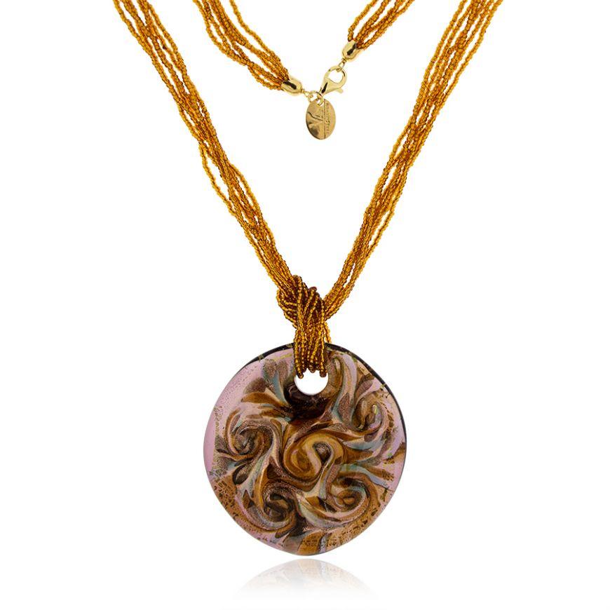 Murano glass necklace with beads | Gioiello Italiano