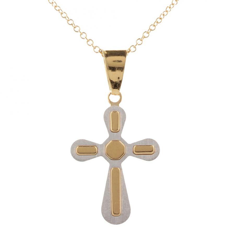 18kt gold cross necklace | Gioiello Italiano