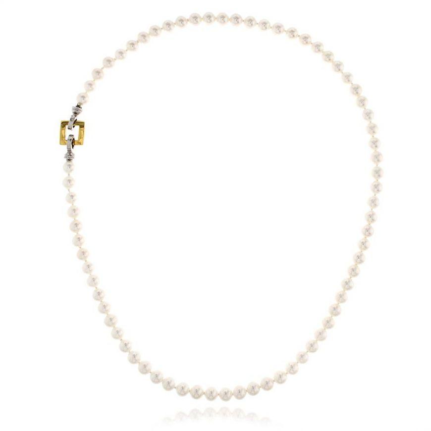 Collana di perle naturali con chiusura in oro 18kt | Gioiello Italiano