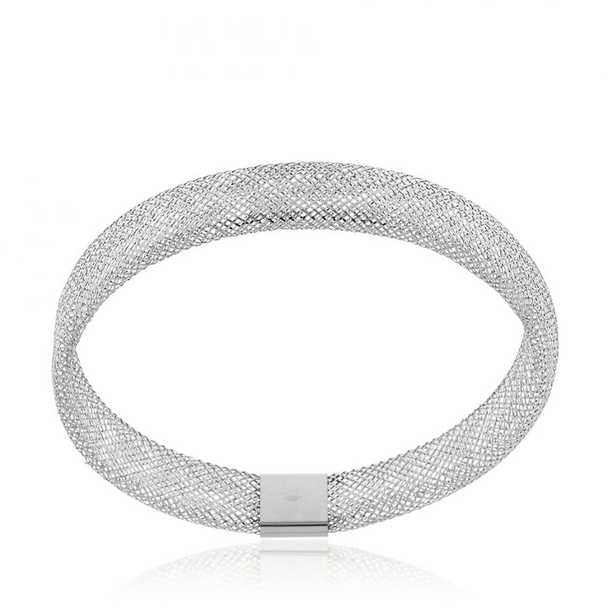 White gold elastic bracelet | Gioiello Italiano