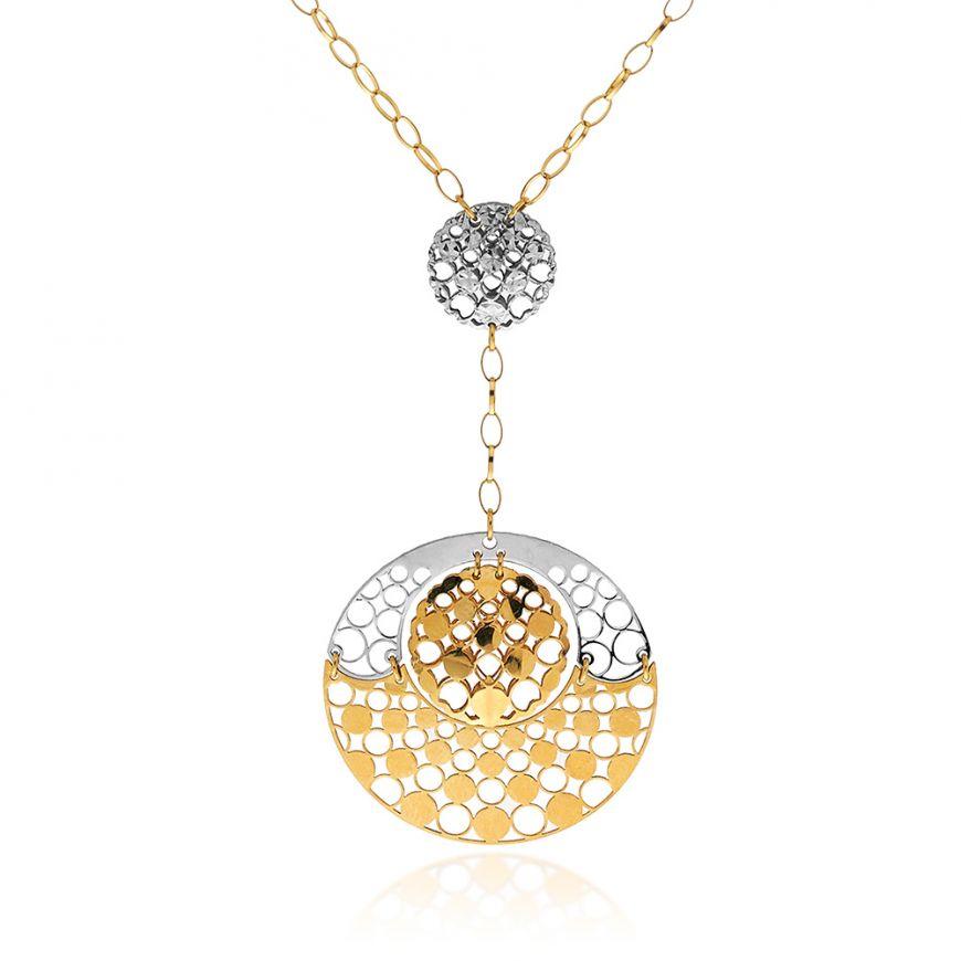 14kt yellow and white gold necklace | Gioiello Italiano