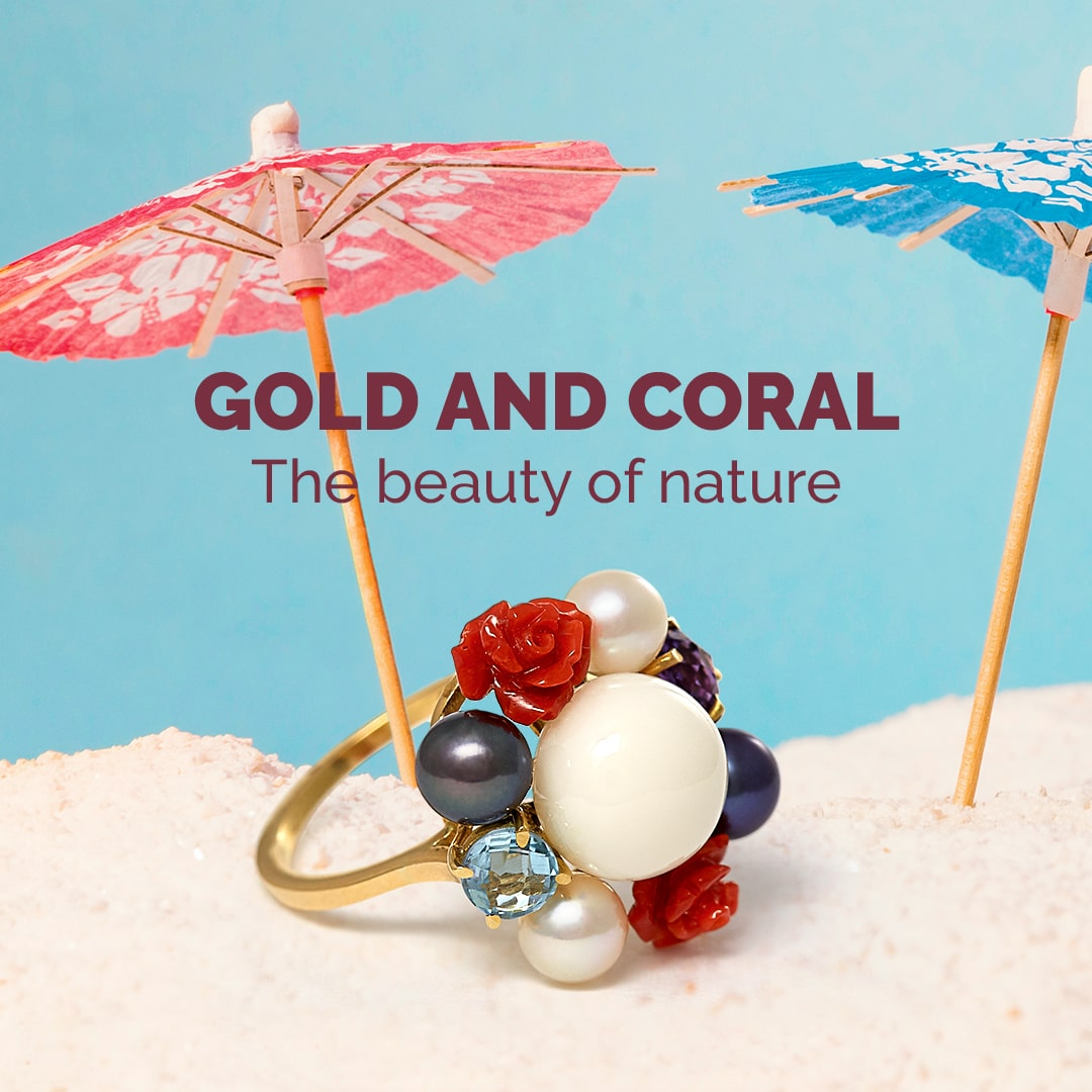 Gold and Coral